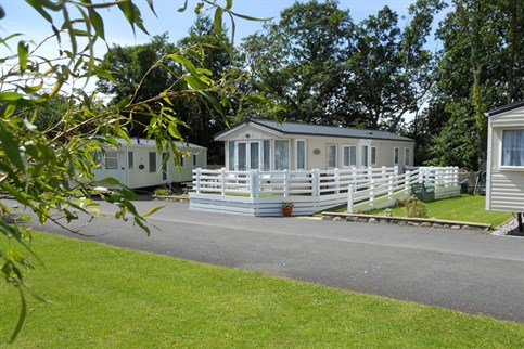Spacious pitches and quality holiday homes