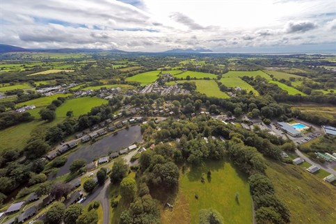 Glan Gwna Country Holiday Park from the air