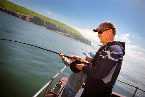 Fishing and angling on lakes, rivers and the sea