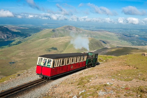 The world famous Snowdon Mountain Railway