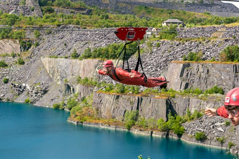 Zip World, the world's fastest zip line